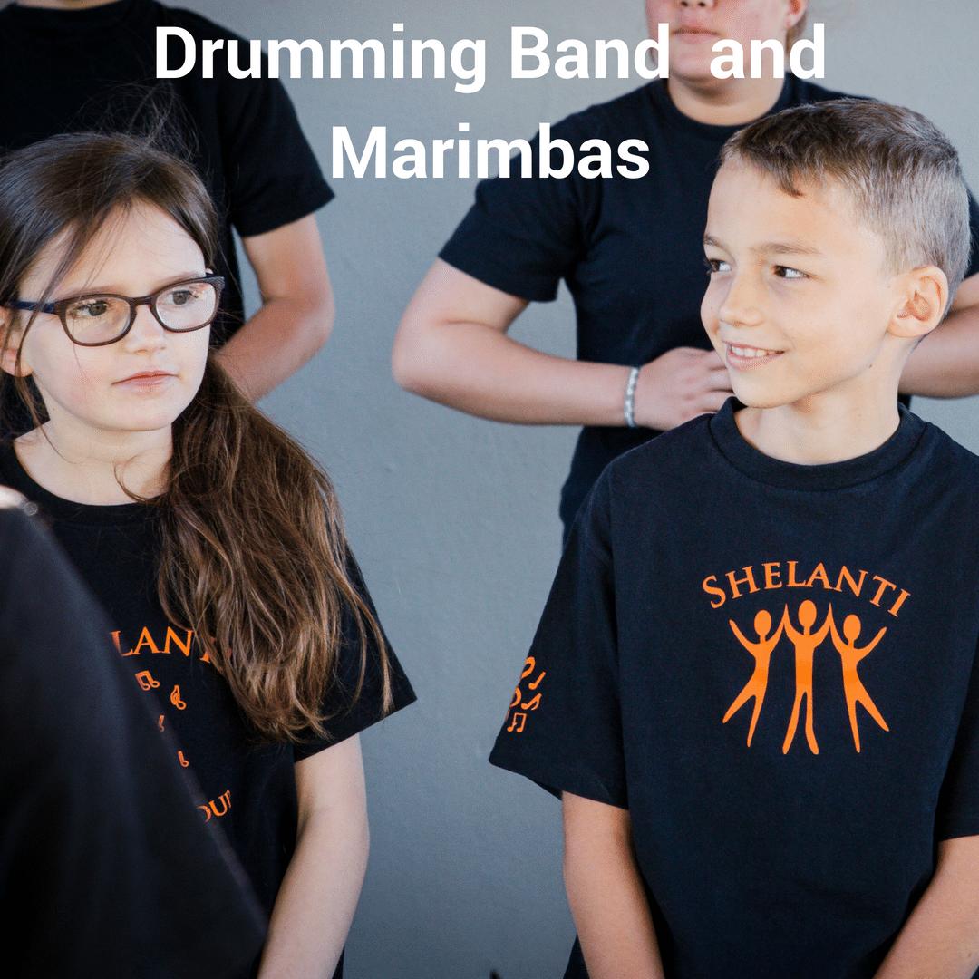 Shelanti Drumming Band and Marimbas